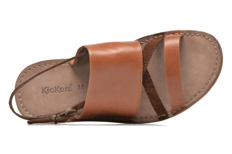 Sandales et nu-pieds Kickers Wawa Marron vue gauche