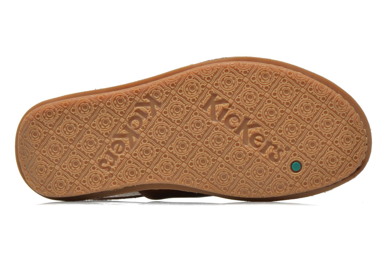 Sandales et nu-pieds Kickers Wawa Marron vue haut