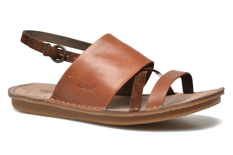 Sandales et nu-pieds Kickers Wawa Marron vue détail/paire
