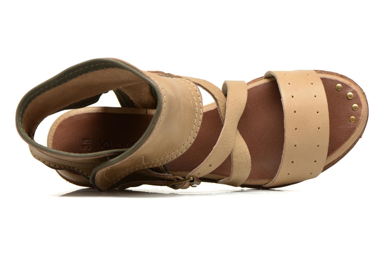 Sandalen Kickers Casertyn beige ansicht von links