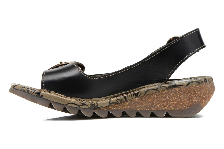 Sandales et nu-pieds Fly London Tram 723 Noir vue face