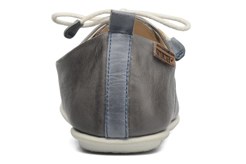 Zapatos con cordones Pikolinos Calabria 917-7123 Gris vista lateral derecha