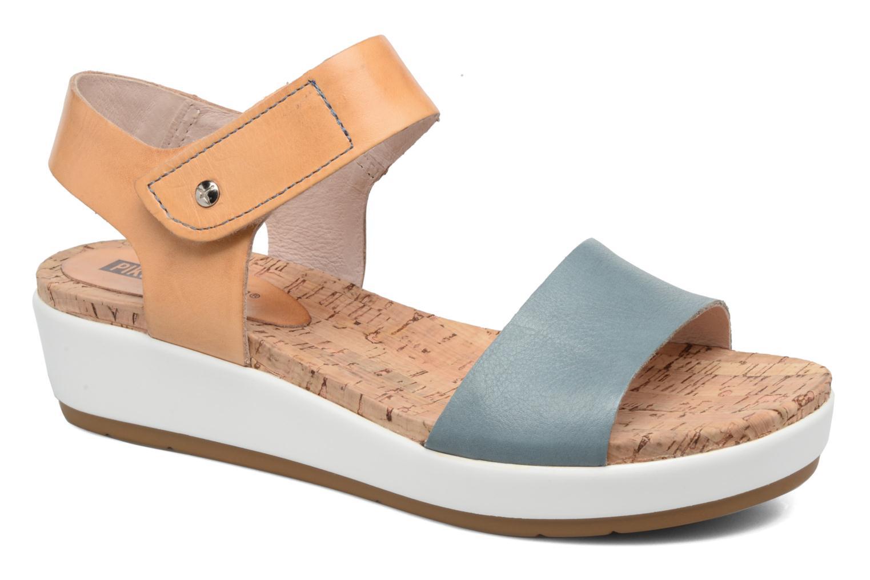 Sandales et nu-pieds Pikolinos Mykonos W1G-0758 Bleu vue détail/paire