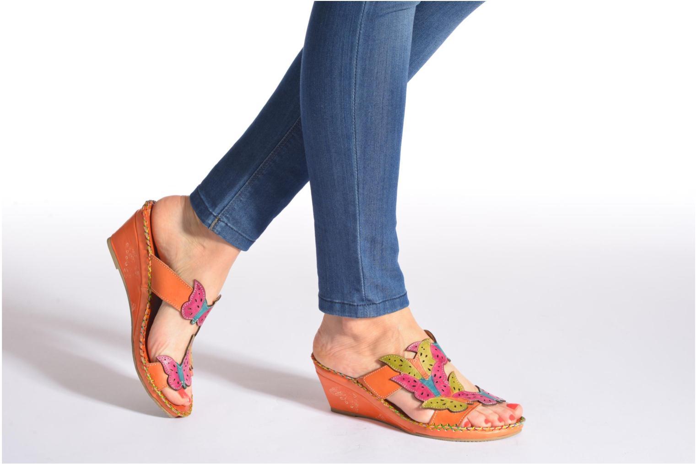 Clogs & Pantoletten Laura Vita Varia orange ansicht von unten / tasche getragen