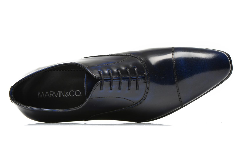 Zapatos con cordones Marvin&Co Parado Azul vista lateral izquierda