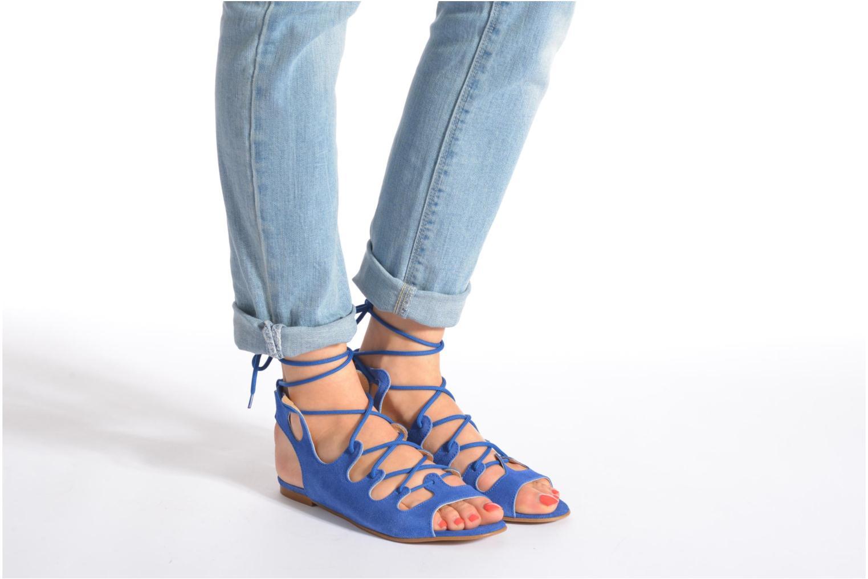 Sandalen Georgia Rose Gilize blau ansicht von unten / tasche getragen
