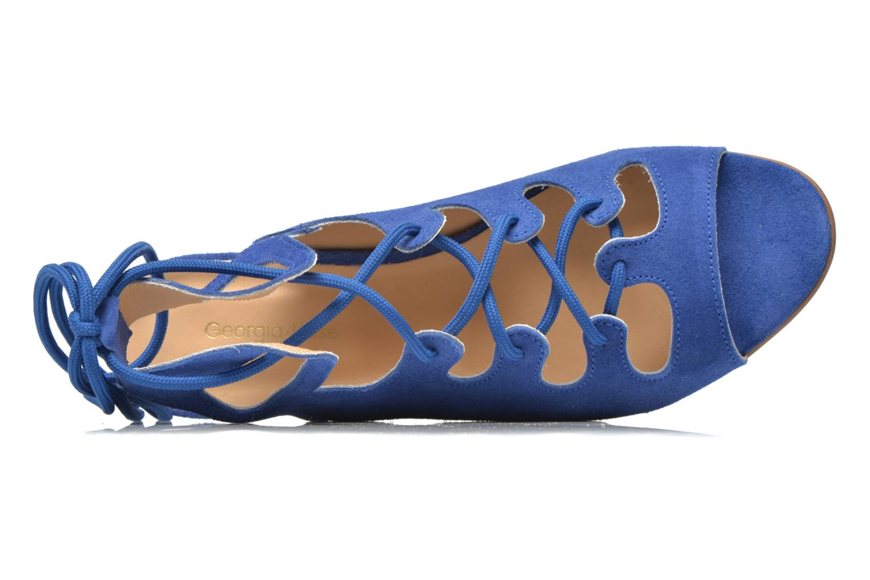 Sandales et nu-pieds Georgia Rose Gilize Bleu vue gauche