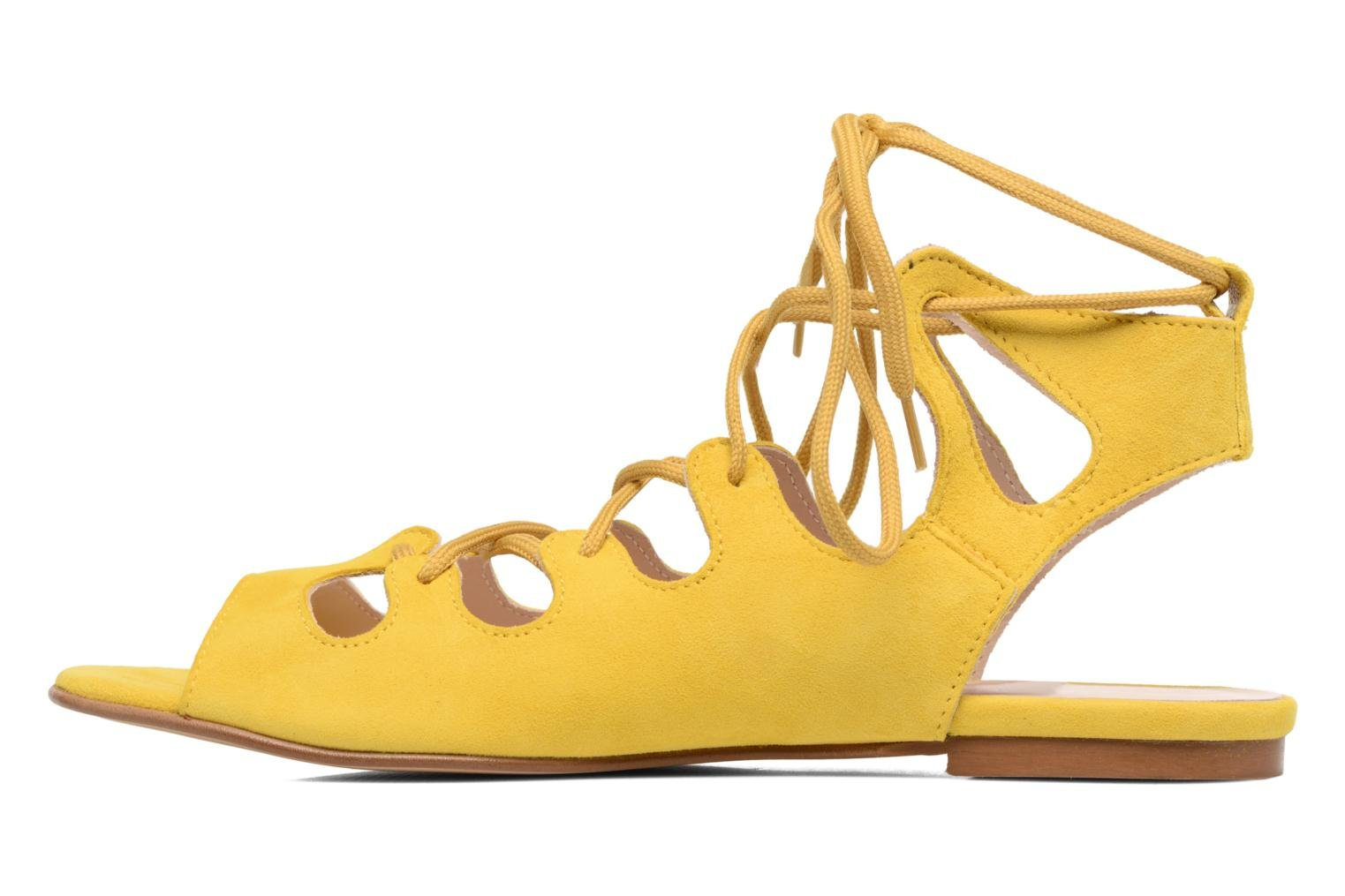 Sandalias Georgia Rose Gilize Amarillo vista de frente