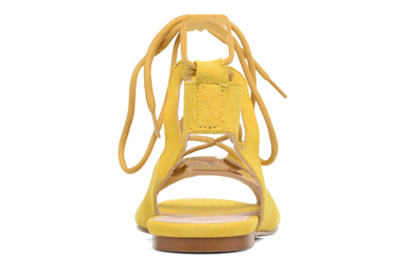 Sandalen Georgia Rose Gilize gelb ansicht von rechts