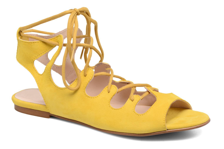 Sandales et nu-pieds Georgia Rose Gilize Jaune vue détail/paire