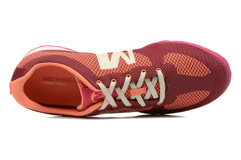 Baskets Merrell Civet Rouge vue gauche