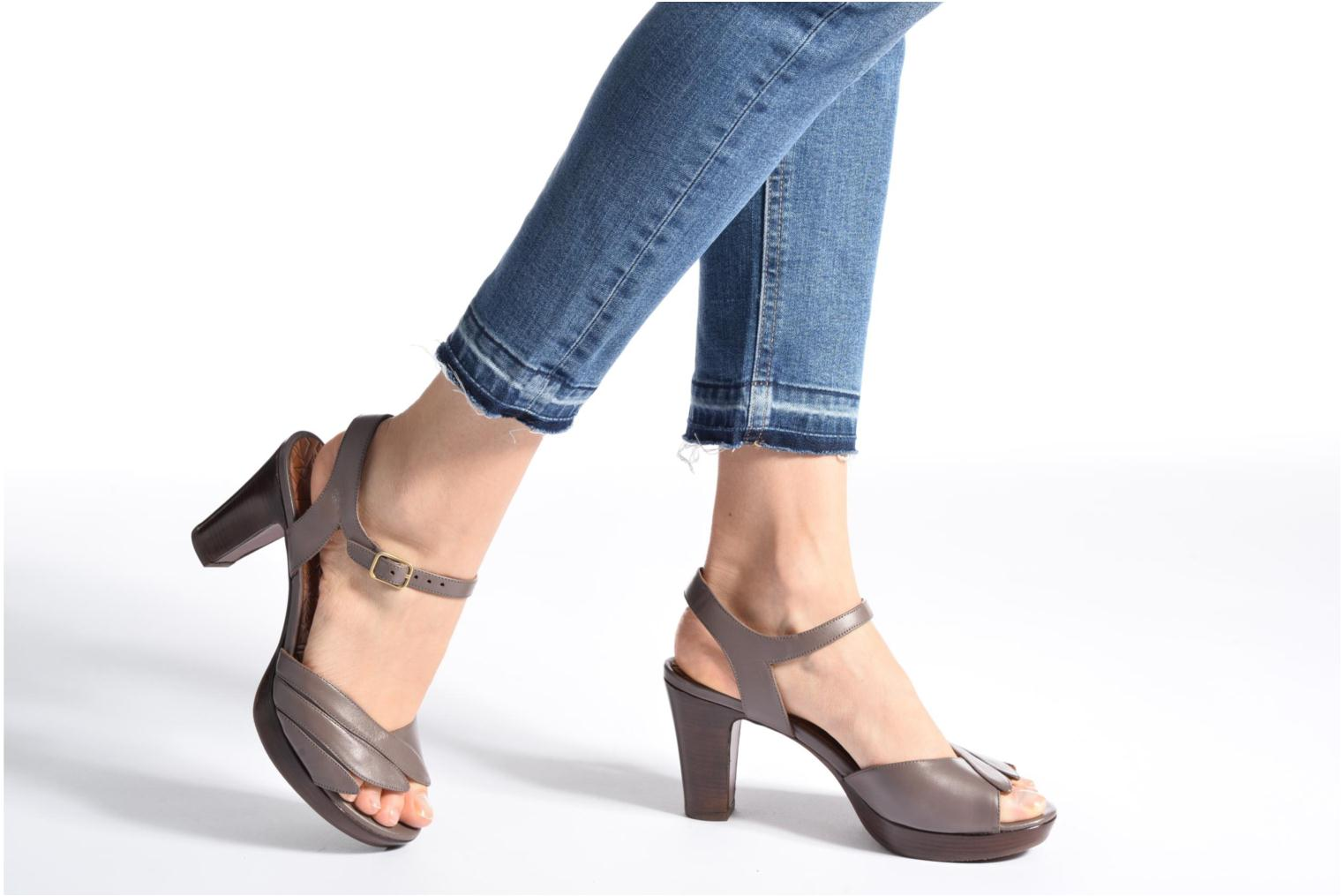 Sandals Chie Mihara Jantra Brown view from underneath / model view