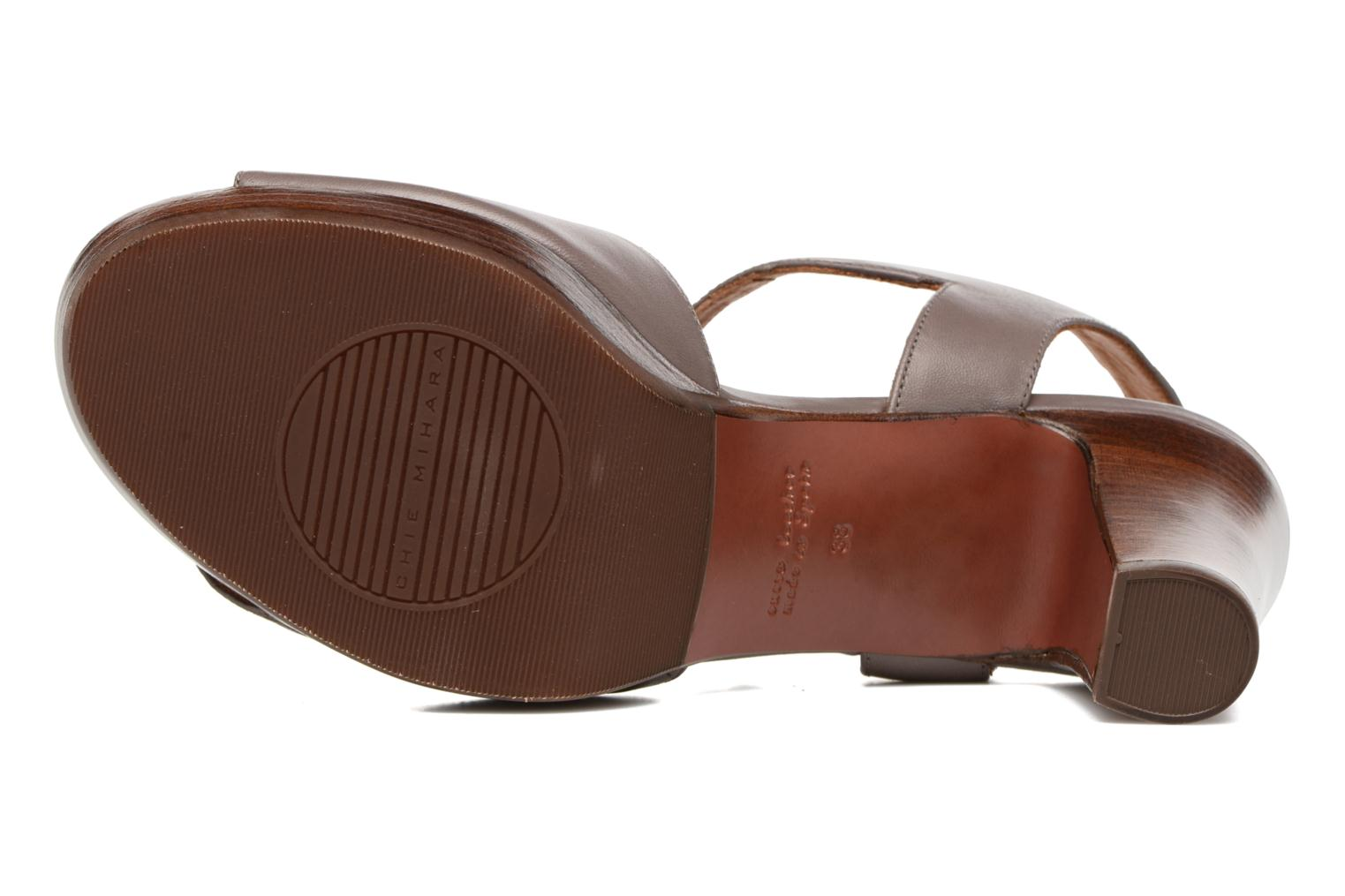 Sandals Chie Mihara Jantra Brown view from above