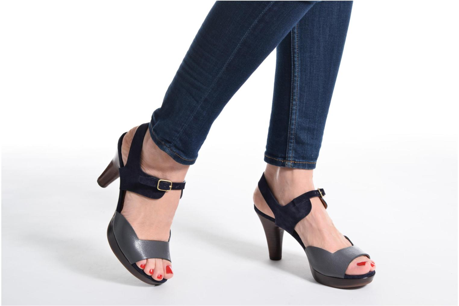 Sandals Chie Mihara Loteria Blue view from underneath / model view