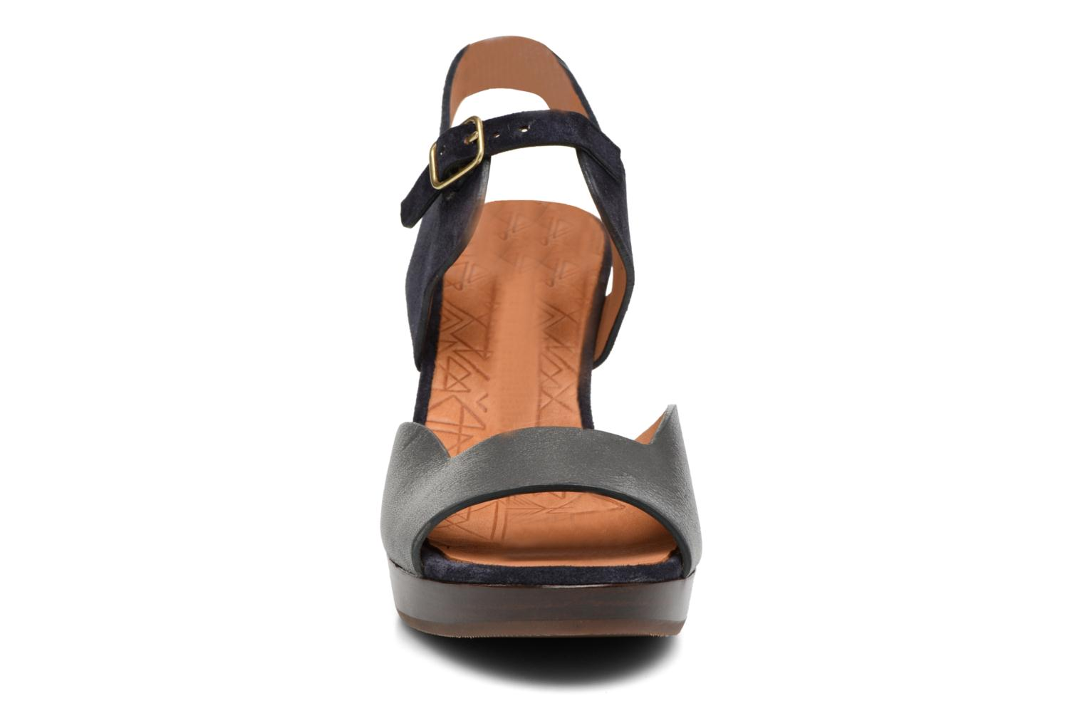 Sandals Chie Mihara Loteria Blue model view