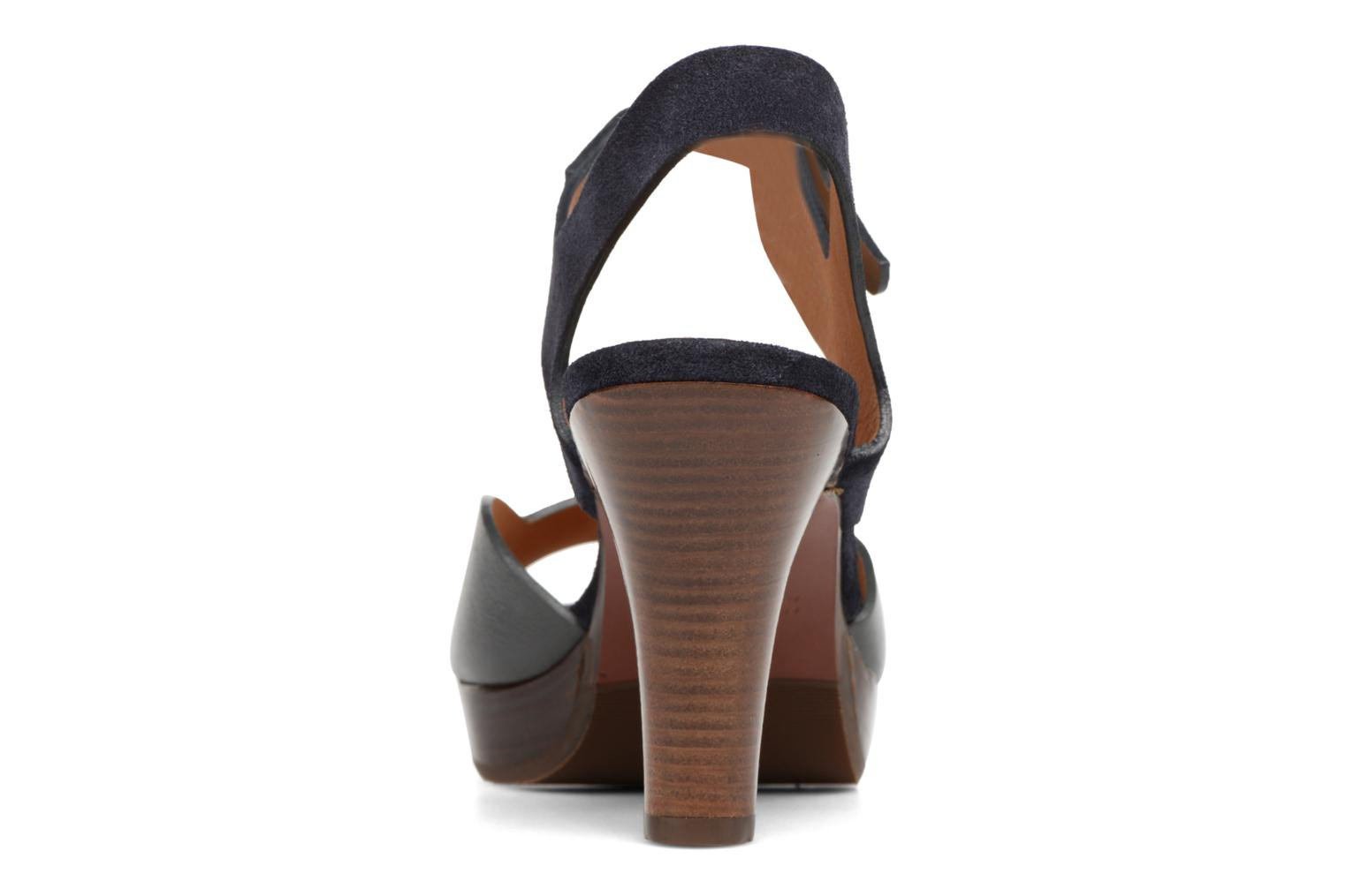Sandals Chie Mihara Loteria Blue view from the right