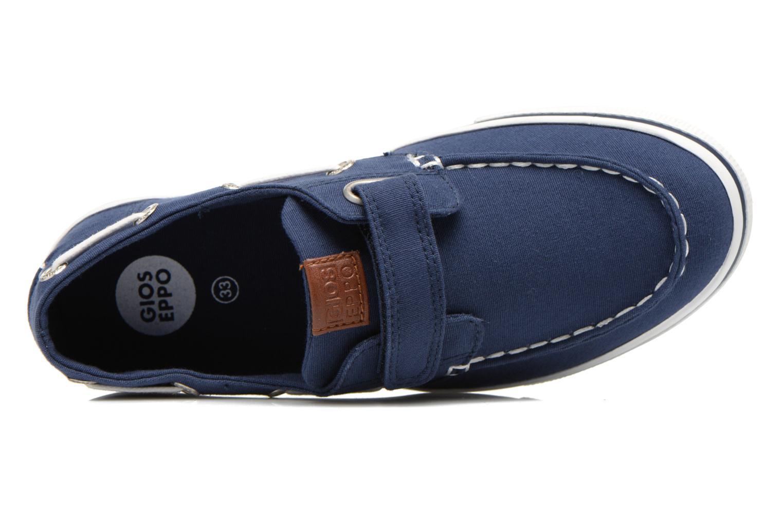 Zapatos con velcro Gioseppo Goliat Azul vista lateral izquierda