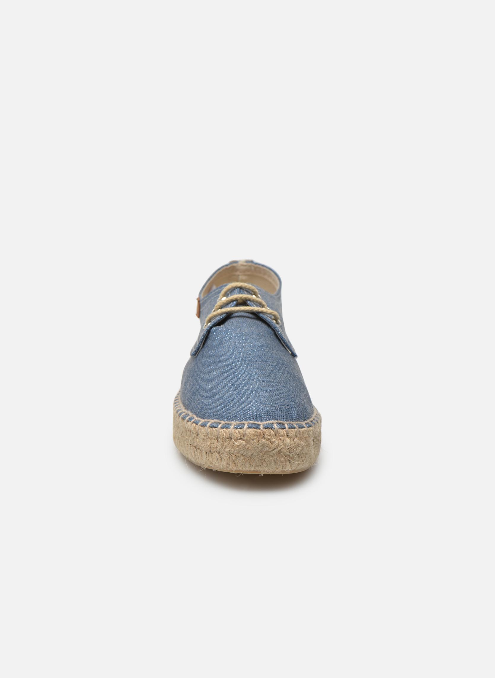 Espadrilles Gioseppo Jaquita Bleu vue portées chaussures