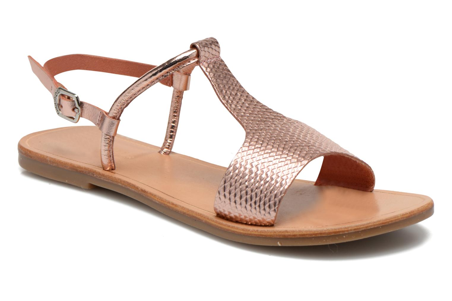 Sandals Gioseppo Bavana Pink detailed view/ Pair view