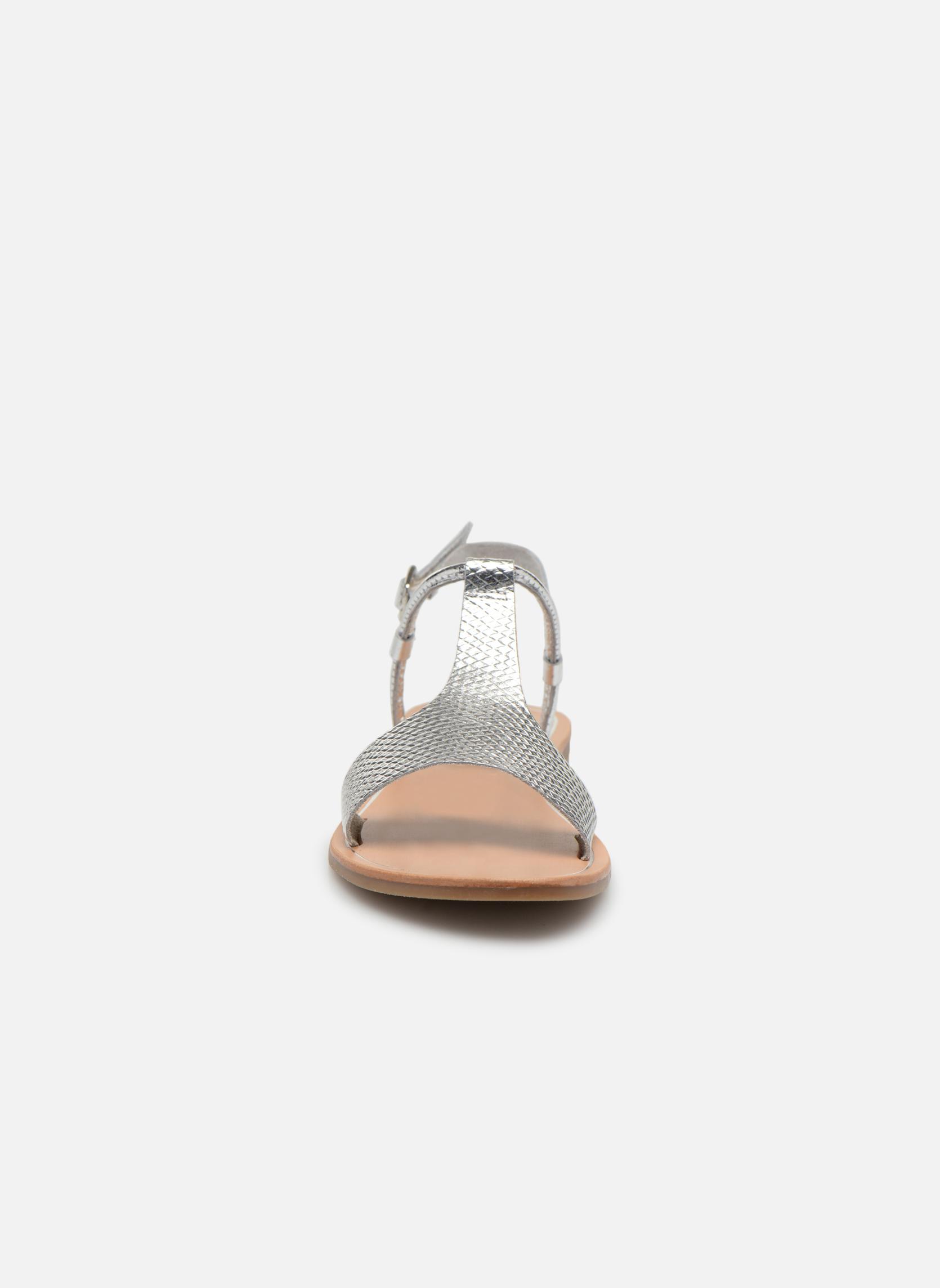 Sandalen Gioseppo Bavana silber schuhe getragen