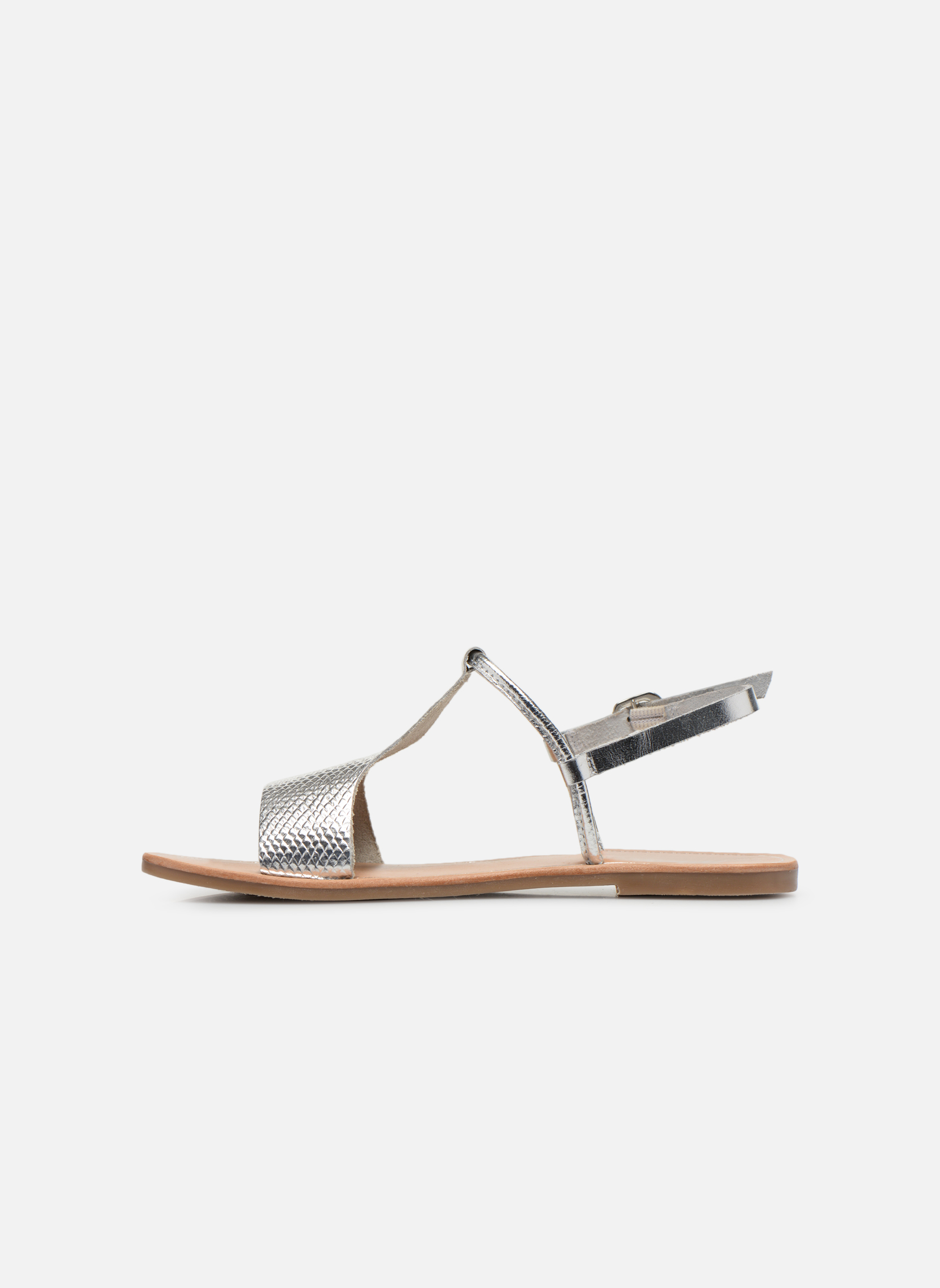 Sandals Gioseppo Bavana Silver front view
