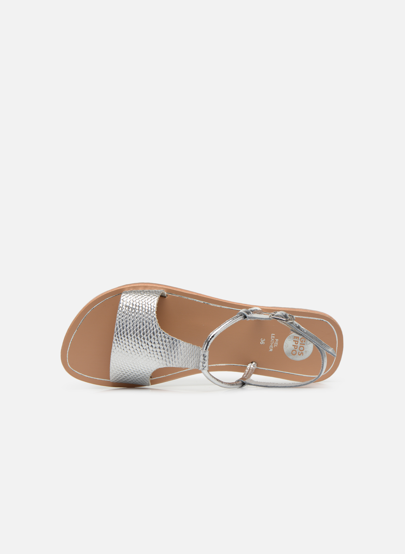 Sandals Gioseppo Bavana Silver view from the left