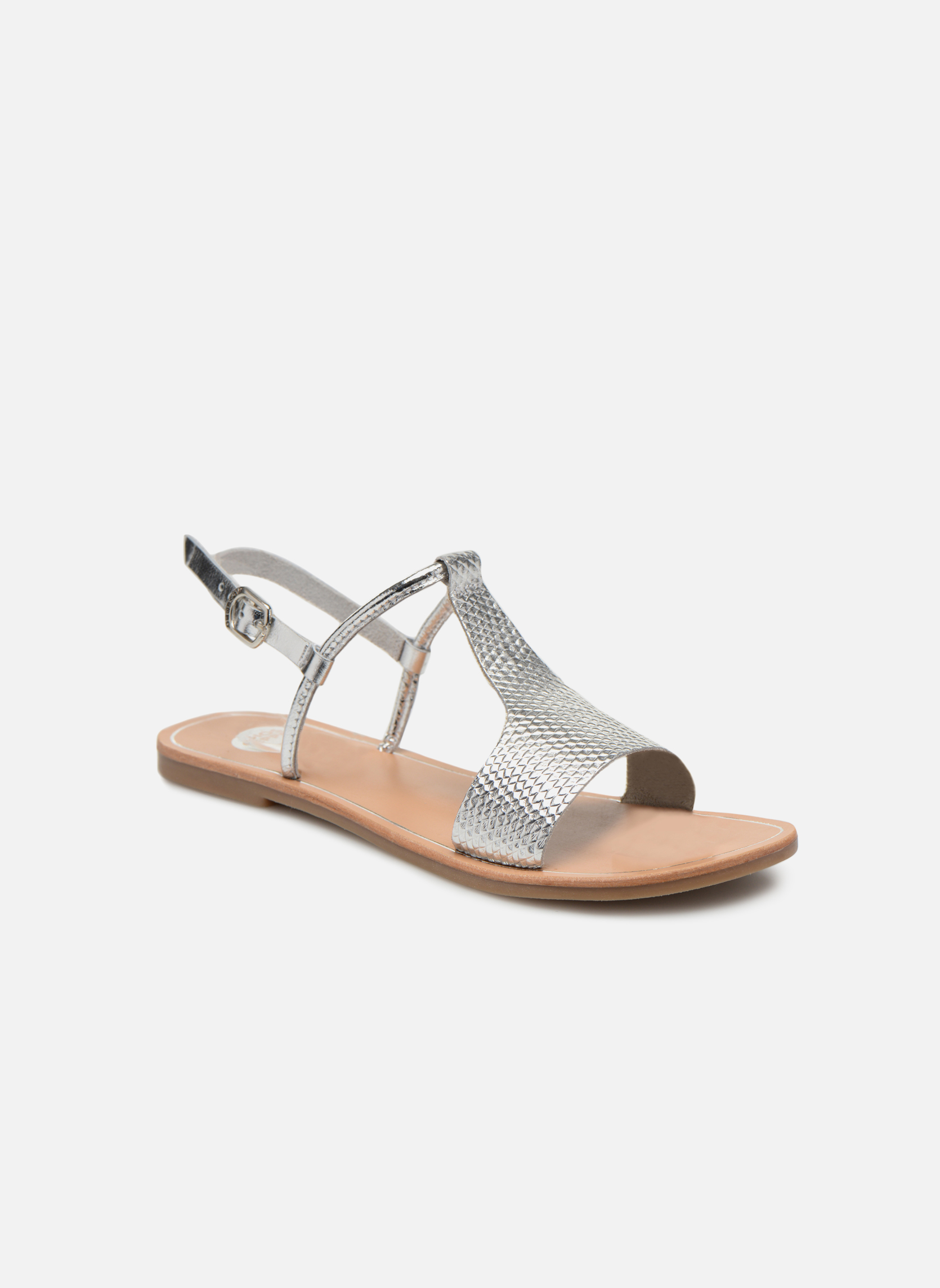 Sandals Gioseppo Bavana Silver detailed view/ Pair view