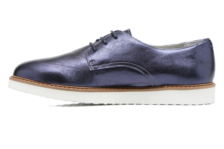 Chaussures à lacets Ippon Vintage James metal Bleu vue face