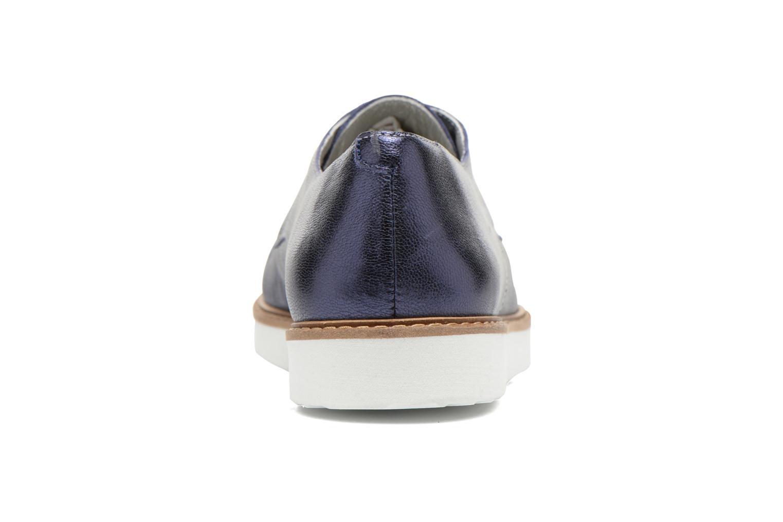 Chaussures à lacets Ippon Vintage James metal Bleu vue droite