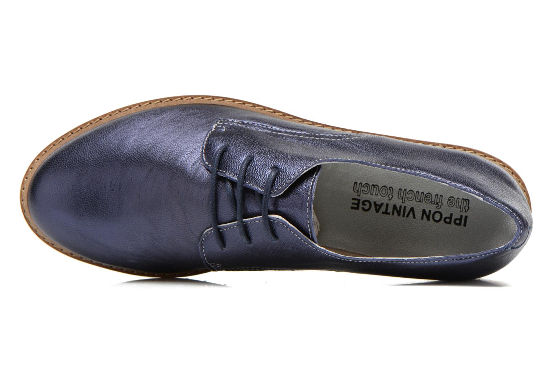 Chaussures à lacets Ippon Vintage James metal Bleu vue gauche