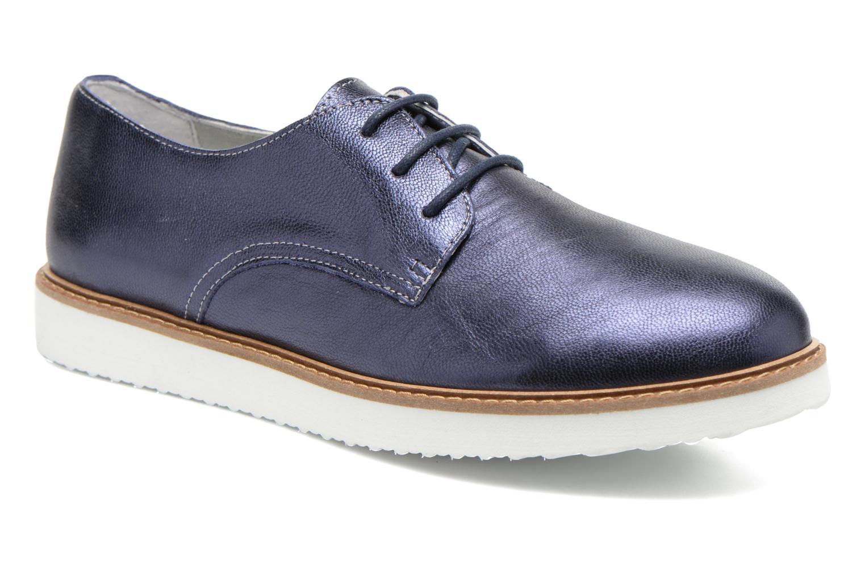 Chaussures à lacets Ippon Vintage James metal Bleu vue détail/paire