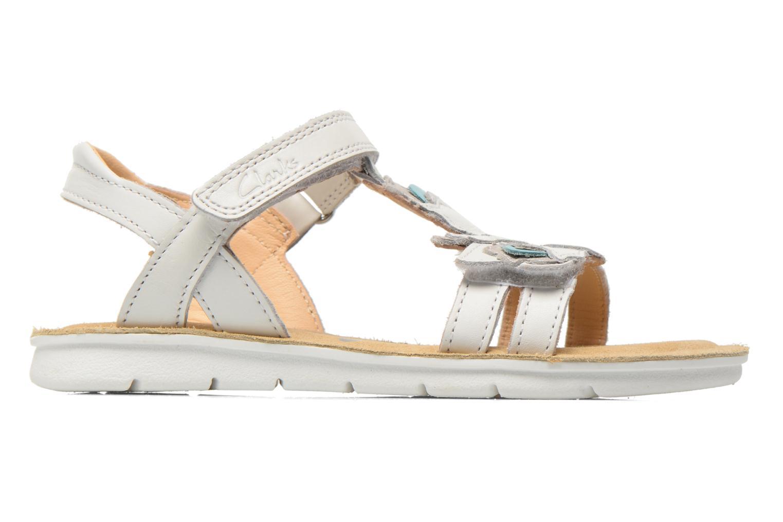 Sandales et nu-pieds Clarks MimoGracie Blanc vue derrière