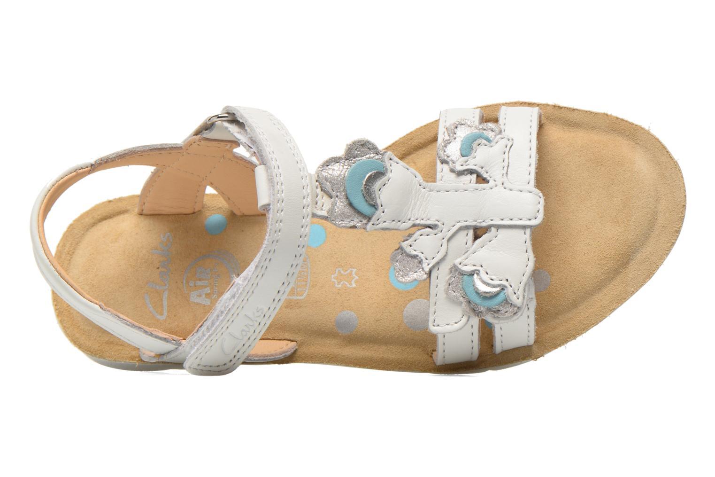 Sandales et nu-pieds Clarks MimoGracie Blanc vue gauche