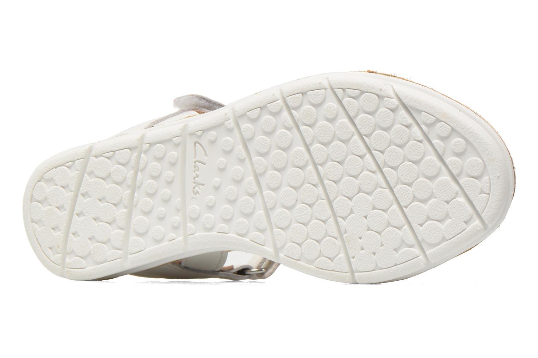 Sandales et nu-pieds Clarks MimoGracie Blanc vue haut