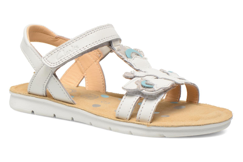 Sandales et nu-pieds Clarks MimoGracie Blanc vue détail/paire