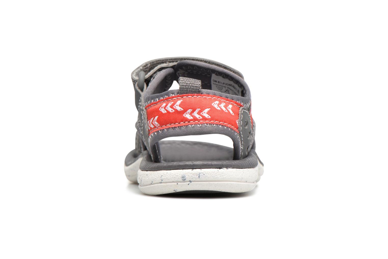 Sandales et nu-pieds Clarks PiranhaBoy Fst Gris vue droite