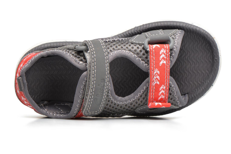 Sandales et nu-pieds Clarks PiranhaBoy Fst Gris vue gauche