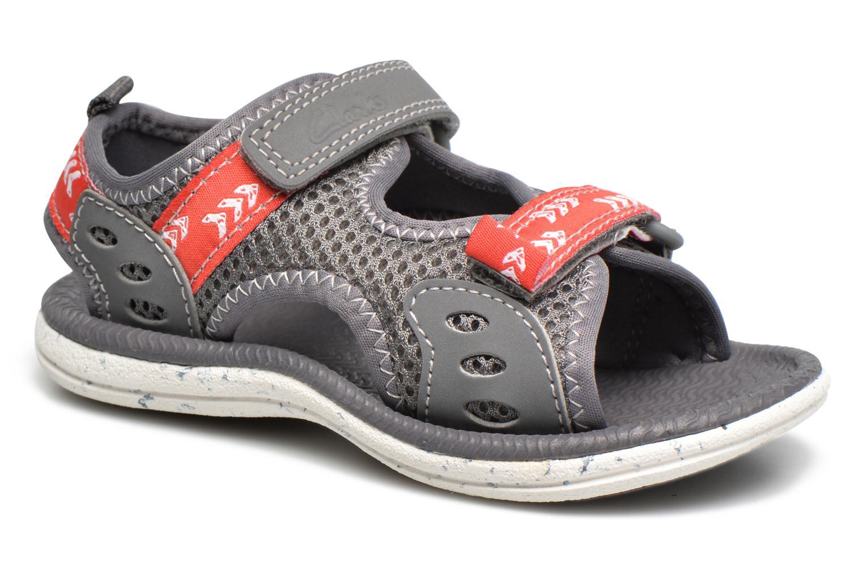 Sandales et nu-pieds Clarks PiranhaBoy Fst Gris vue détail/paire