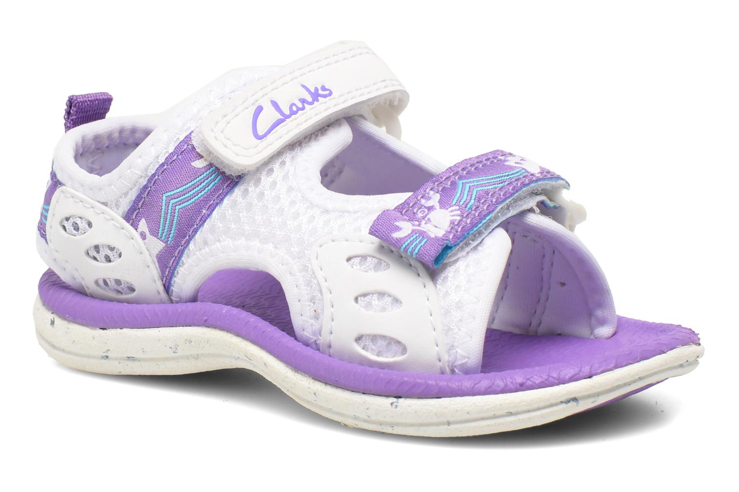 Sandals Clarks Star Games Fst White detailed view/ Pair view