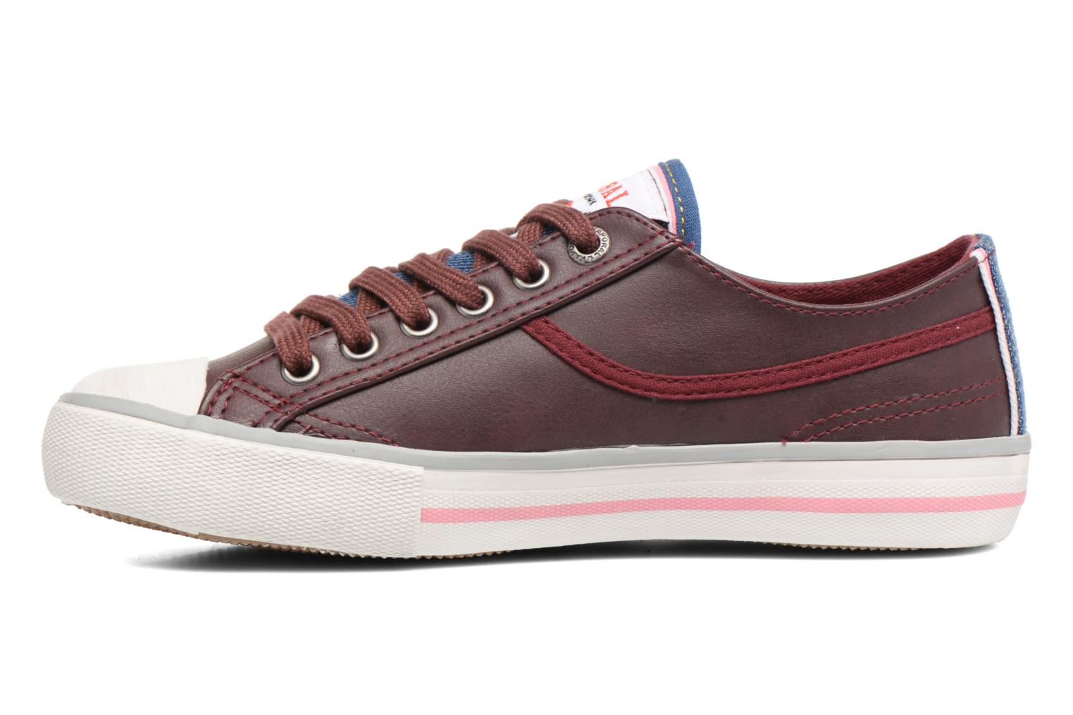 Trainers Kaporal Icario Burgundy front view