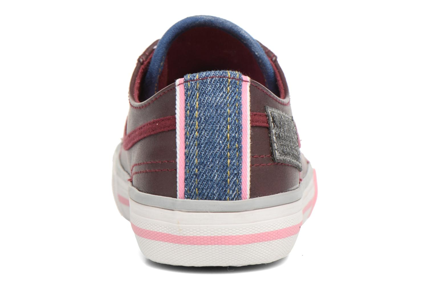 Trainers Kaporal Icario Burgundy view from the right