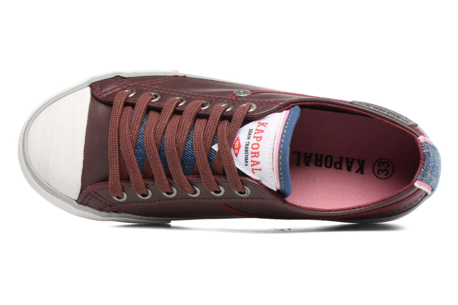 Trainers Kaporal Icario Burgundy view from the left