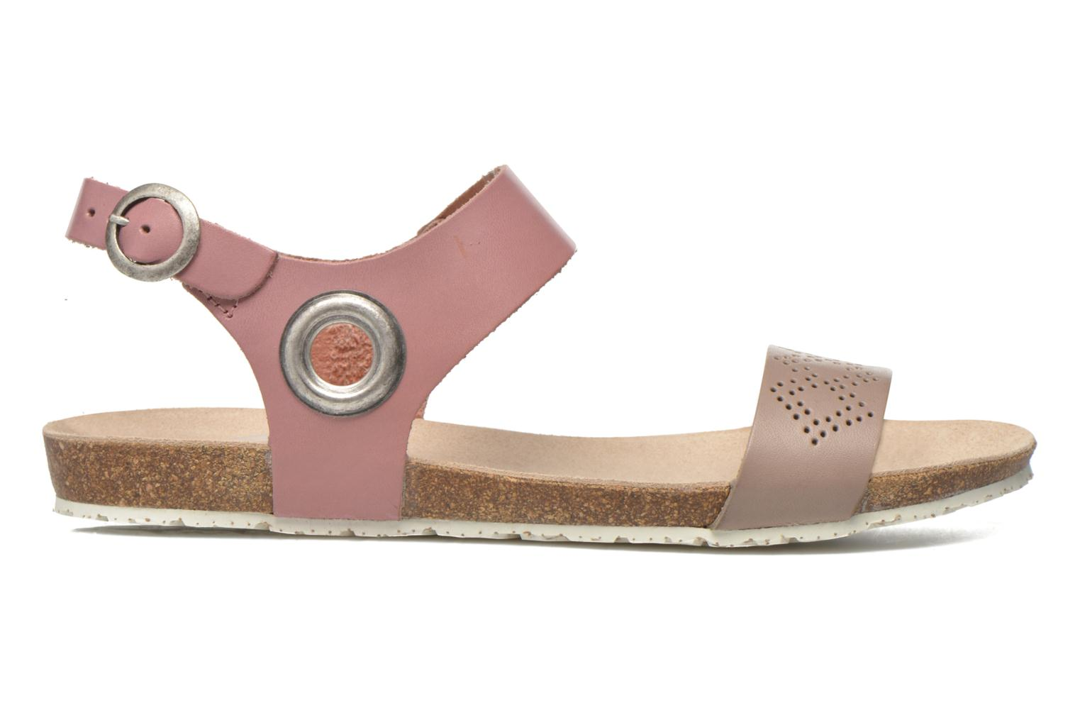 Sandals TBS Isabel Brown back view