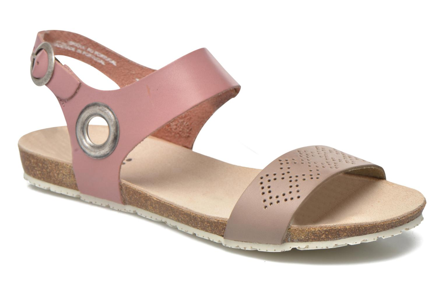 Sandals TBS Isabel Brown detailed view/ Pair view