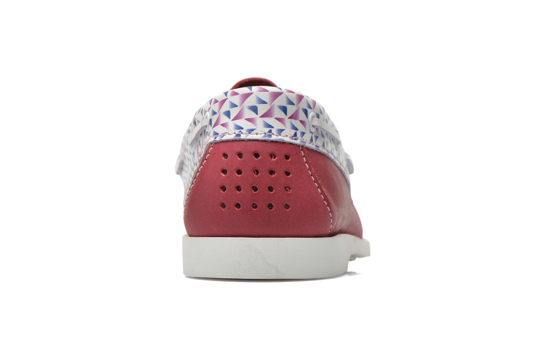 Zapatos con cordones TBS Pietra Rojo vista lateral derecha