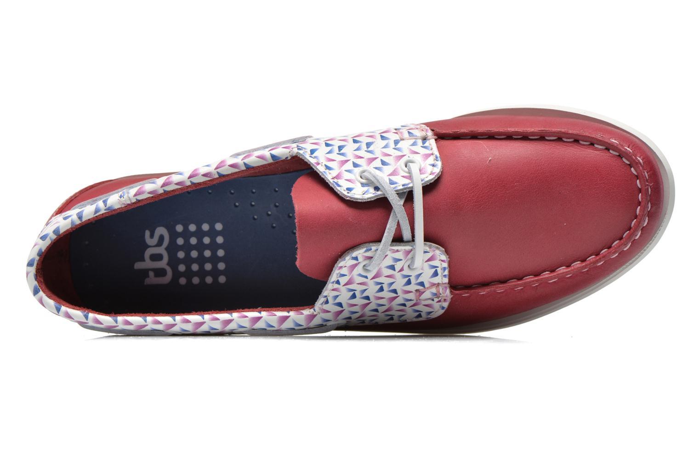 Zapatos con cordones TBS Pietra Rojo vista lateral izquierda