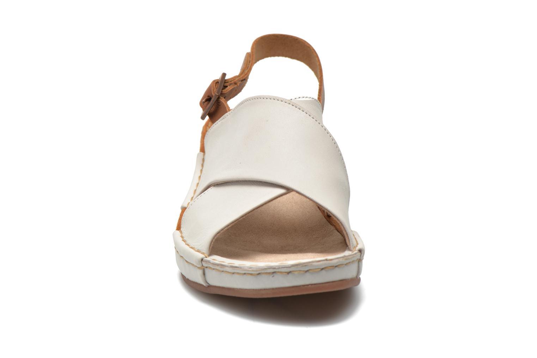 Sandales et nu-pieds TBS Valina Blanc vue portées chaussures