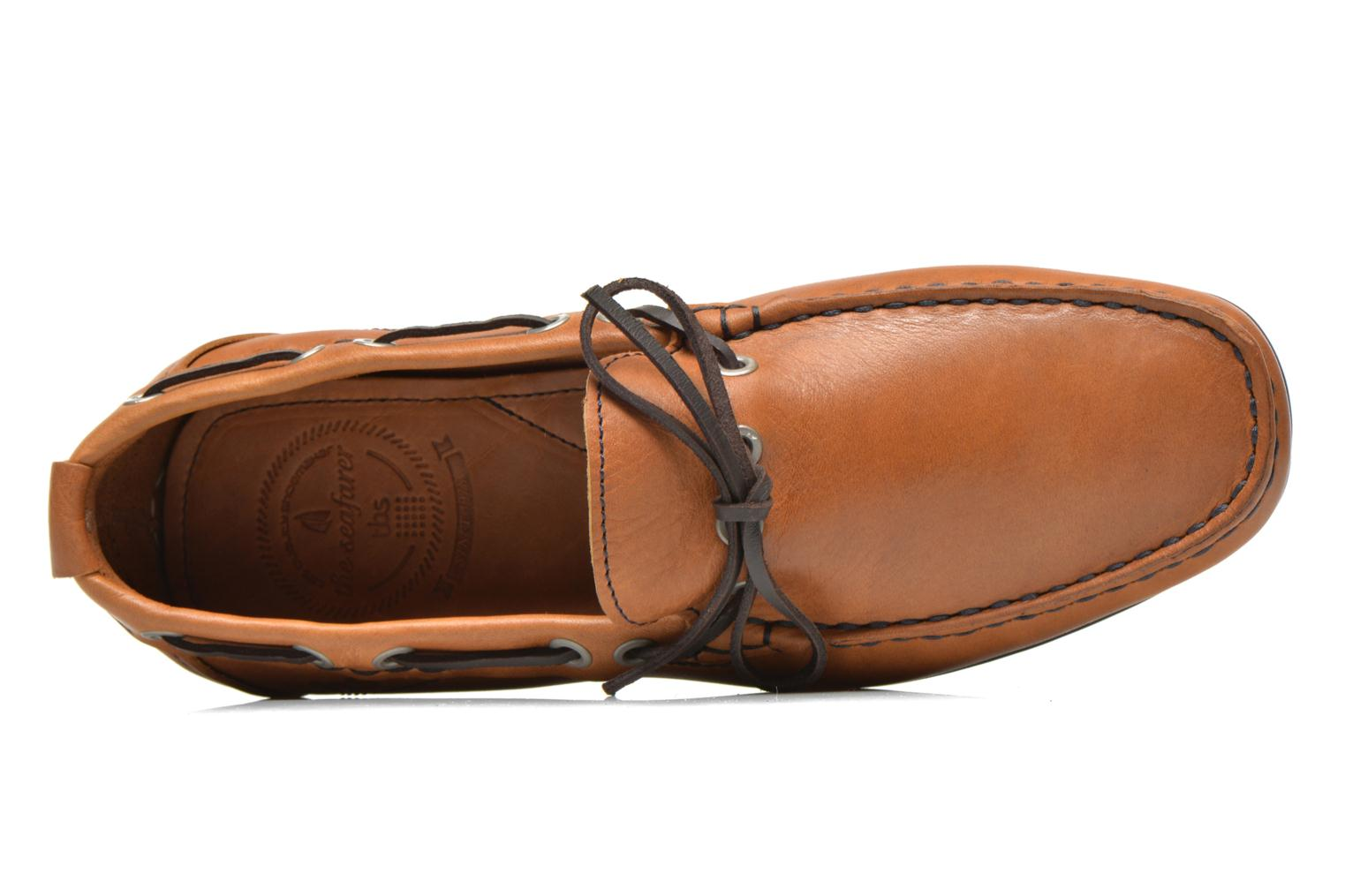 Loafers TBS Klever Brown view from the left