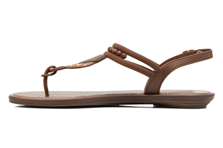 Sandales et nu-pieds Grendha Tribal Sandal Fem Marron vue face