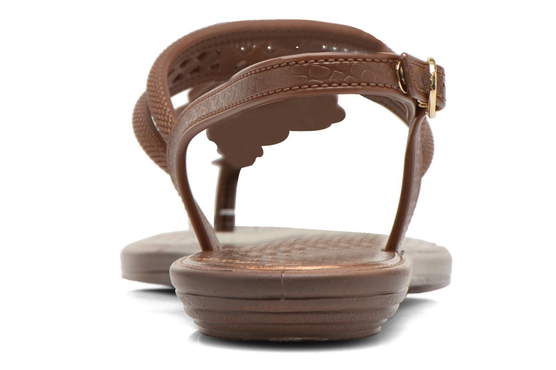 Sandales et nu-pieds Grendha Tribal Sandal Fem Marron vue droite